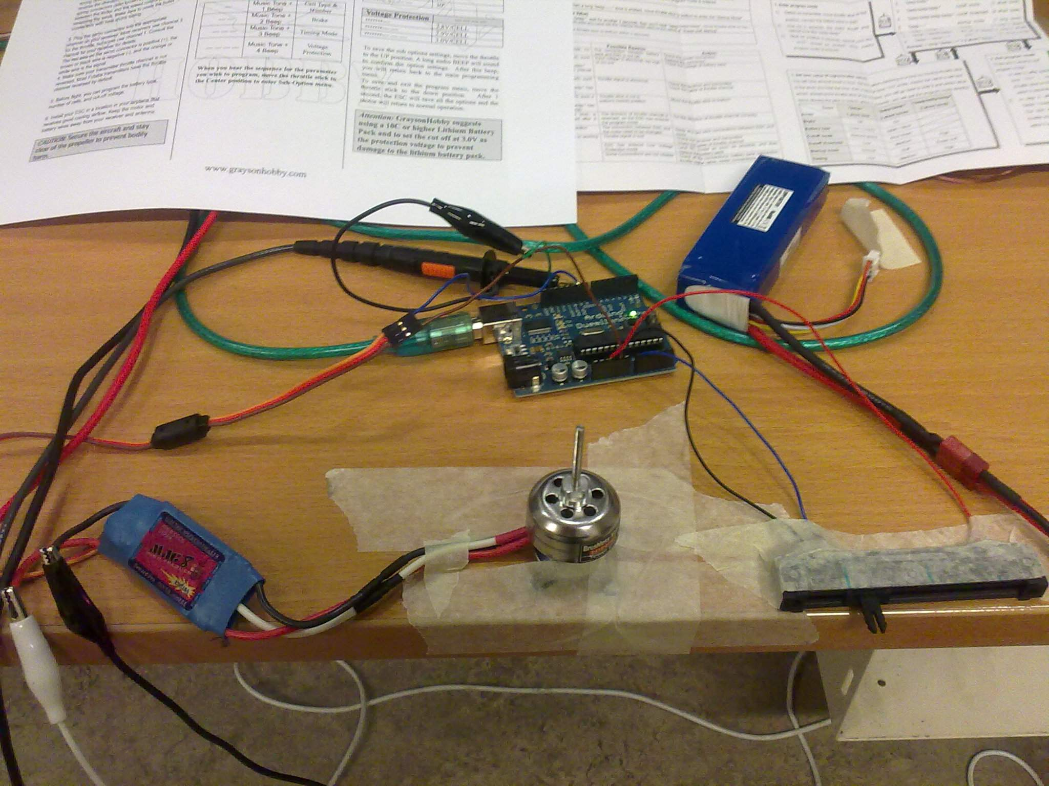Building a quadrotor bldc test farshid s we