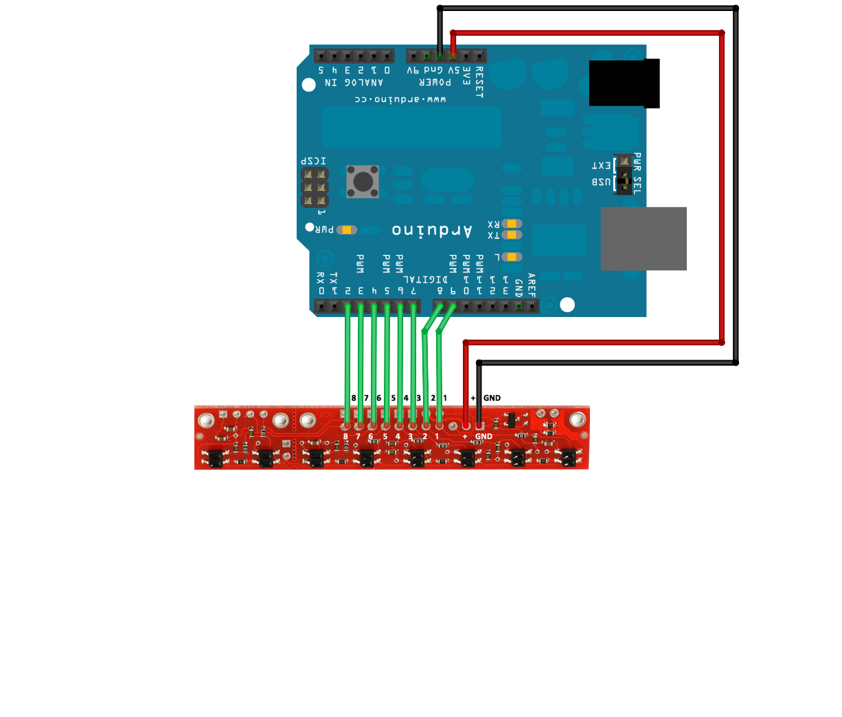 St7735s connection to arduino